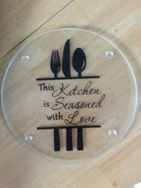 Items Similar To 7 Inch Round Personalized Glass Cutting