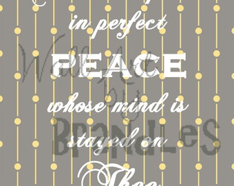 Perfect Peace Scripture Wall Art