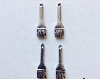8 brush paint charms - SCB107