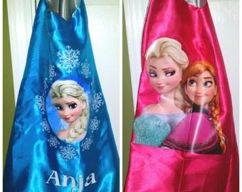 PERSONALIZED Kids Frozen Pink Elsa / Anna or Blue Elsa Superhero Cape Capes