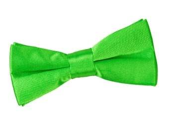 Satin Apple Green Boy's Bow Tie