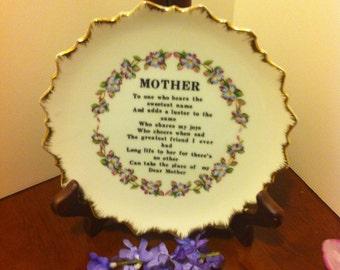 Vintage Mother Decorative Plate