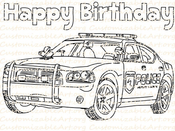 Police Car Coloring Pages New Police Birthday Party Favor Printable Police Car Coloring Page Design Decoration