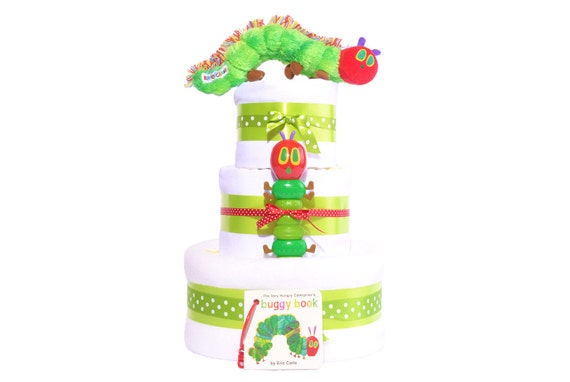 Etsy Australia Baby Gifts : The very hungry caterpillar tier nappy cake gift unisex