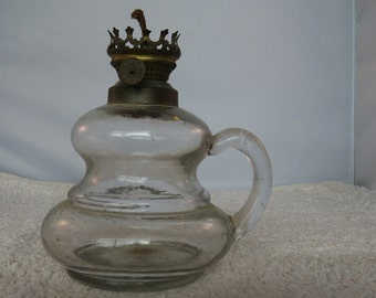 Vintage glass oil lamp base