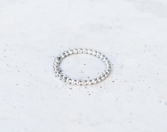 Sterling silver balls ring, hand made, fine jewellery