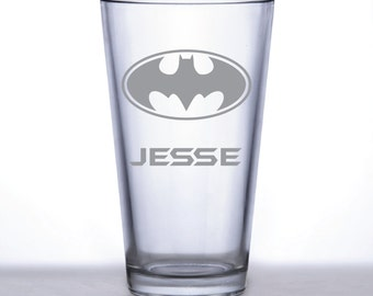 Batman Personalized Pint Glass- Custom Pint Glass