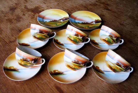 Noritake Hand Painted China Tea Set