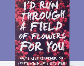 Funny Valentine's Card -  Kind Of A Big Deal Hayfever Funny Anniversary Card