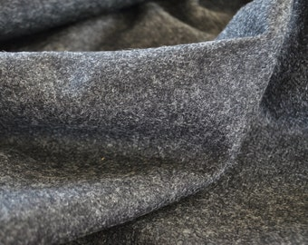 Tweed material by the metre in charcoal grey