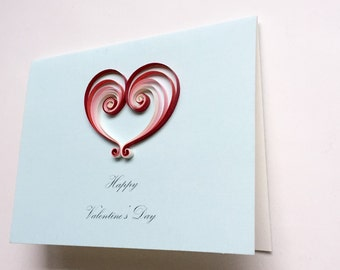 Quilled Valentines card