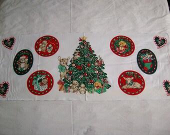 Wamsutta Christmas applique, quilt 100% cotton,vintage fabric