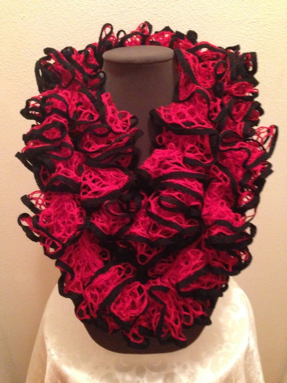 Team Spirit Red With Black Trim Sashay Infinity Scarf