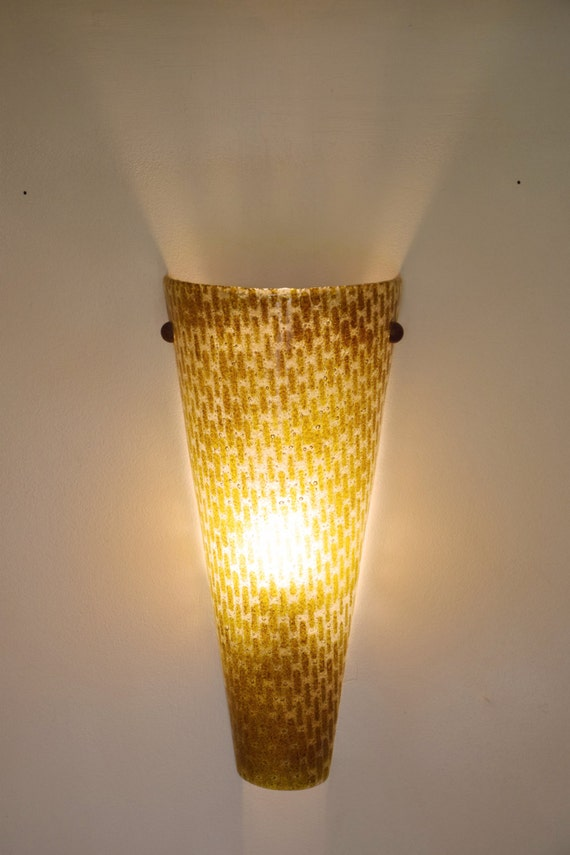 Items similar to unique wall lighting, fused glass wall art, wall lighting fixture, atmosphere ...