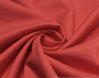 Fabric cotton polyamide elastane jacquard coral tendril tone on tone bright
