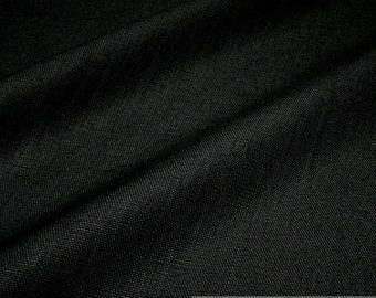 fabric pure linen black