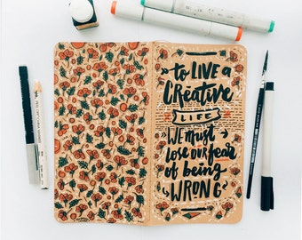 Experimental: Cover Doodling #02 - To Live A Creative Life