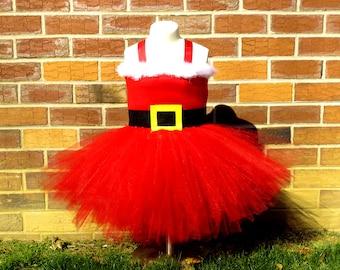 Santa Tutu, Christmas Tutu, Holiday Tutu, Christmas pageant, Santa tutu dress, christmas tutu outfit, christmas tutu dress,  pageant wear