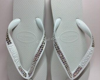 Swarovski customised havaianas flip flops