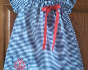Monogrammed Peasant Dress for Baby/Toddler/Girl