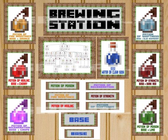 Minecraft Brewing Station Minecraft Party By KidzBdayInvites