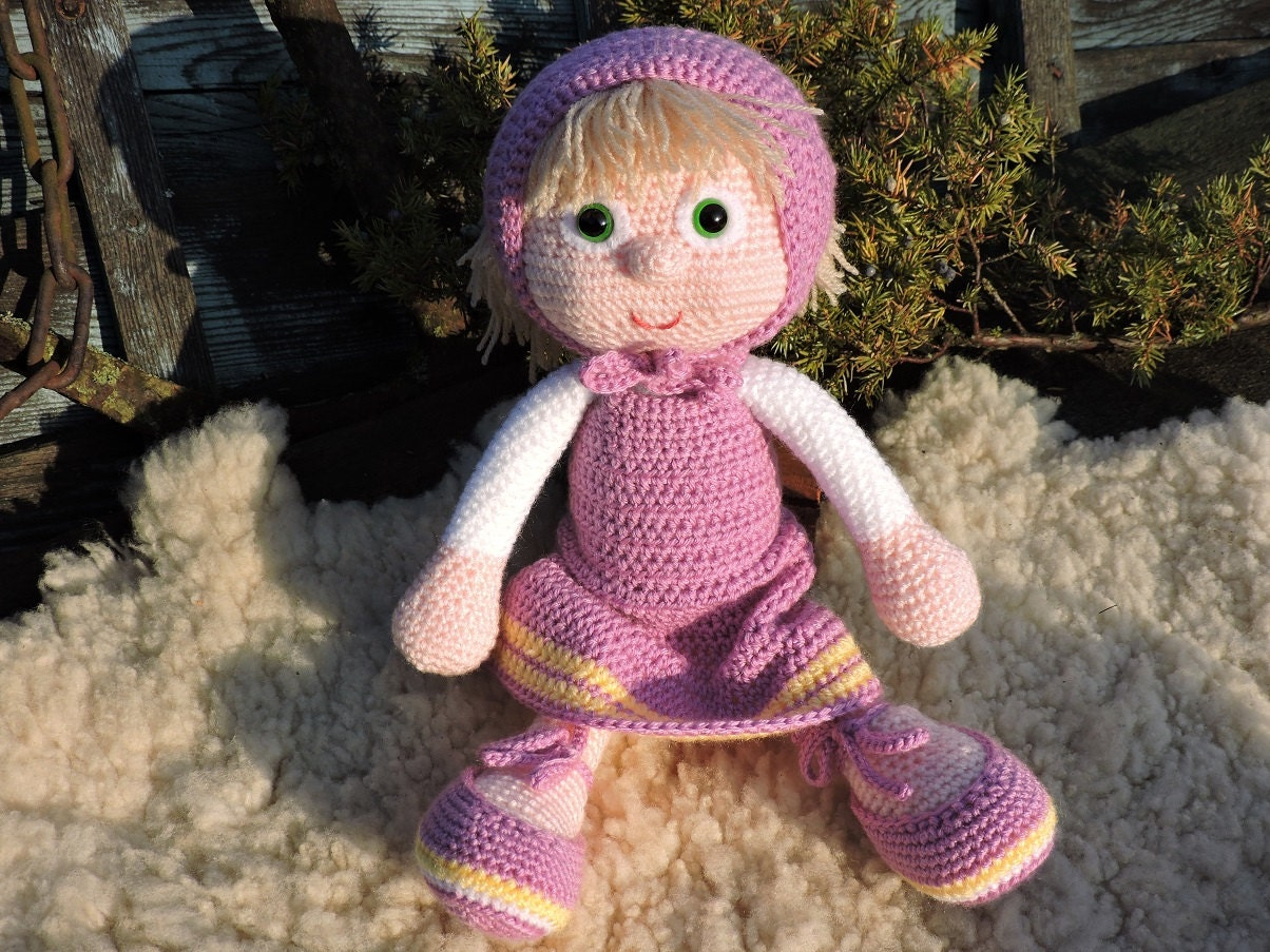 Amigurumi Russian Dolls : Amigurumi Doll Masha The Russian Girl Crochet by DagoCrafts