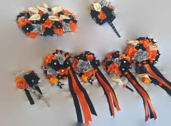 Harley Davidson Wedding: Wedding Bouquet Rose Bouquet Orange Bouquet Harley By