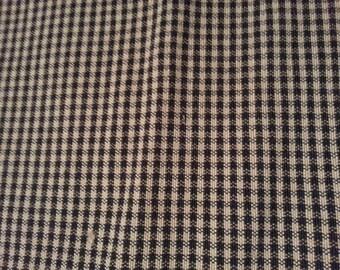 1 yd Black Beige Houndstooth Designer Fabric,  1st