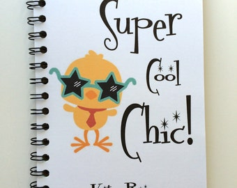 Cool Chic, Easter Gift, Easter Notebook, Chic, Super Cool Chic, Easter Basket Gift, Kids, Notebook, Journal, Sketchbook