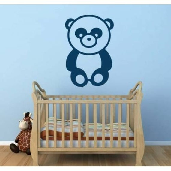 Panda Cute Bear Children Decal Girls Room By