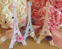 7.25 inch Design Your Own Eiffel Tower, Eiffel Tower Statue, Paris Cake Topper, Customized Eiffel Tower, Shabby Chic Paris,