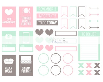 Printable Notes for Diary / Journal - label, tag - INSTANT DOWNLOAD