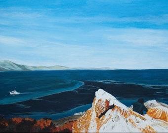 Seascape painting, custom painting,