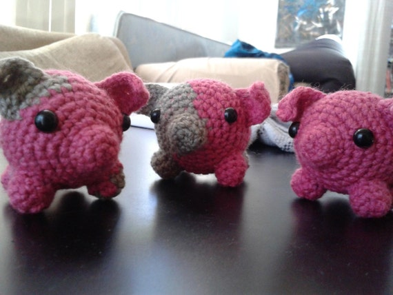 Cute Amigurumi Pigs : Amigurumi Pig by JuliasCrochetDesigns on Etsy