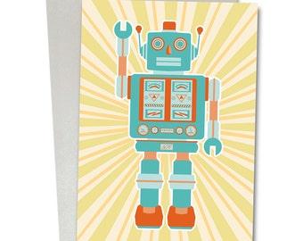 Robot series greetings/birthday card