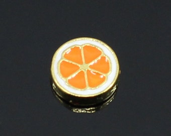 Orange Charm for Floating Lockets