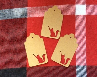 Die cut Cat and Butterfly Tag