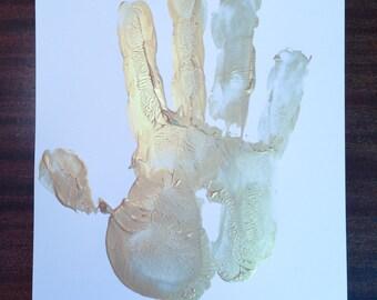 Black and Blue Hand Print