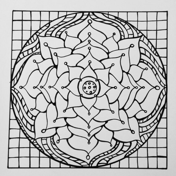 square mandala coloring pages - photo#16
