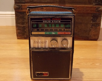 Vintage Antique Stewart Solid State Radio