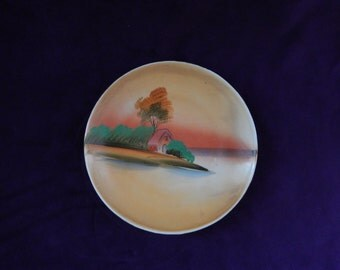 Orange Hand Painted Plate Made in Japan