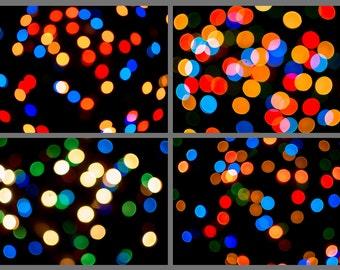 bokeh overlay etsy - Digital Christmas Lights