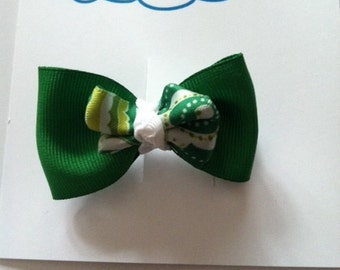 Green and paisley barrette