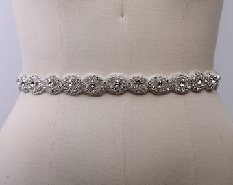 Items Similar To Wedding Gown Sash Belt With Satin Ribbon