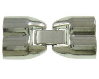 2pcs--Fold Over Clasp, 2 holes, 30x14x8mm, holes 5mm (B13-19)