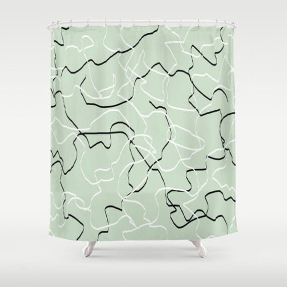 mint shower curtain mint green decor green by