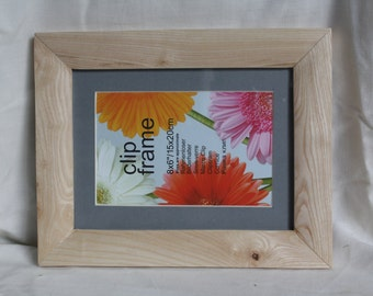 hand made, solid wood, Irish Ash picture frame. inset glass, 8x6 inches