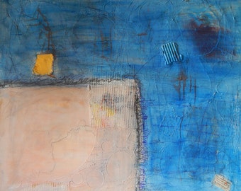 Abstract painting - Textured Painting On Canvas Acrylic Painting On Canvas Modern Artwork Original Blue 31.5 x 27.6 in 80 x 70 cm