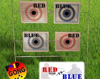 Red vs Blue Team - BB Target - Airsoft Target - Game