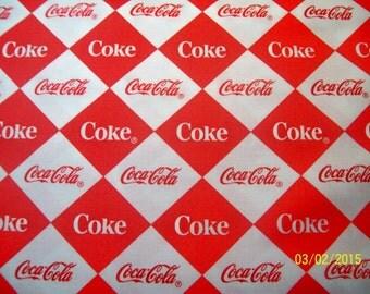 Lincensed Coca-Cola Fabric